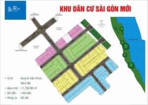 Mặt bằng Dự án đất nền khu dân cư Sài Gòn Mới Huyện Nhà Bè compressed 300x212 - Dự án The Sun Riverside Nhà Bè